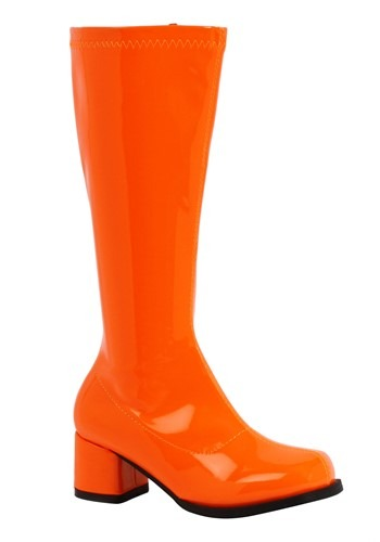 Click Here to buy Orange Gogo Boots for Girls from HalloweenCostumes, CDN Funds & Shipping