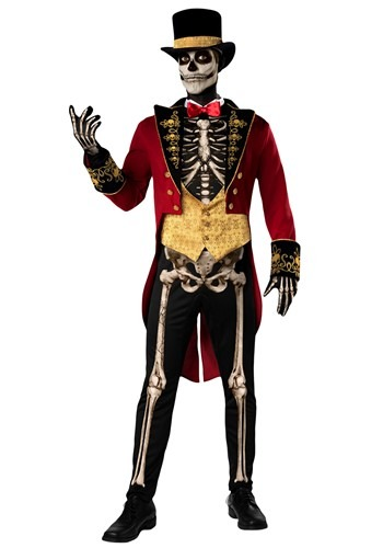 Click Here to buy Skeleton Ringmaster Mens Costume from HalloweenCostumes, CDN Funds & Shipping