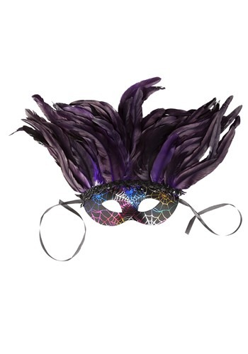 Click Here to buy Feather Mardi Gras Deluxe Mask from HalloweenCostumes, CDN Funds & Shipping
