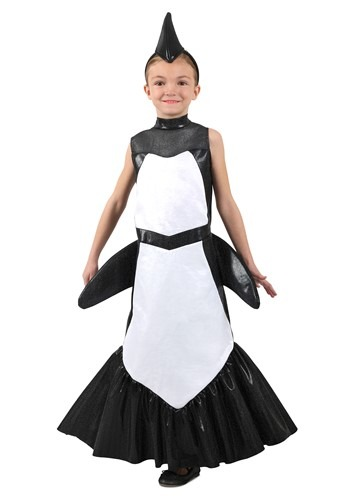 Orca Mermaid Girls Costume
