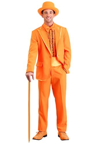 Plus Size Orange Tuxedo Costume