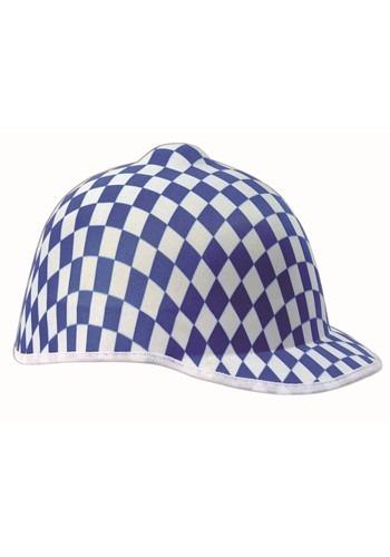 Jockey Checkered Hat Blue