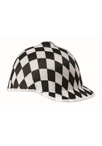 Jockey Checkered Hat Black & White