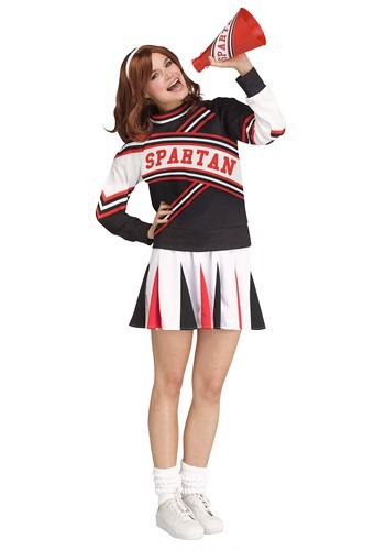Click Here to buy Womens Saturday Night Live Spartan Cheerleader Deluxe Costume from HalloweenCostumes, CDN Funds & Shipping