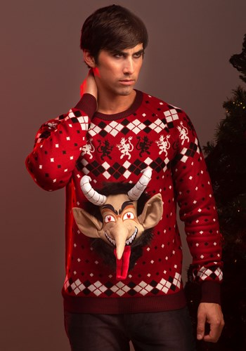 Adult 3D Krampus Head Unisex Ugly Christmas Sweater update1