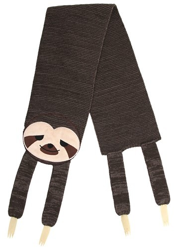 Sleepy Sloth Knit Scarf