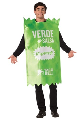 Click Here to buy Adult Taco Bell Verde Sauce Packet Taco Bell Costume from HalloweenCostumes, CDN Funds & Shipping
