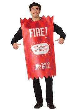 Taco Bell Adult Fire Taco Bell Sauce Packet Costum