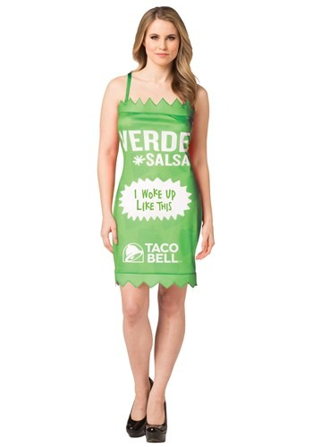 Click Here to buy Womens Taco Bell Verde Taco Bell Sauce Packet Costume from HalloweenCostumes, CDN Funds & Shipping