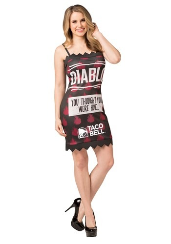Click Here to buy Womens Taco Bell Diablo Taco Bell Sauce Packet Costume from HalloweenCostumes, CDN Funds & Shipping