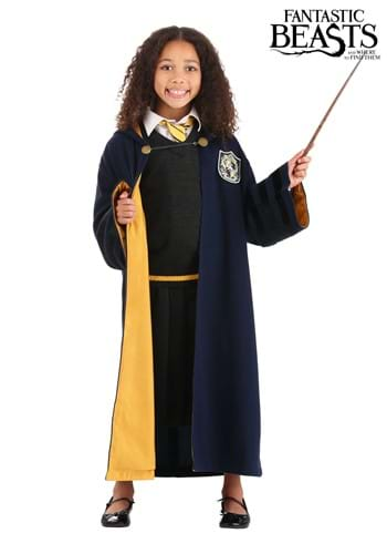 Click Here to buy Vintage Hogwarts Kids Hufflepuff Robe from HalloweenCostumes, CDN Funds & Shipping