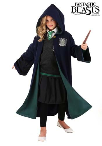 Click Here to buy Kids Harry Potter Hogwarts Slytherin Robe from HalloweenCostumes, CDN Funds & Shipping