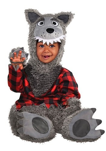 Click Here to buy Baby Grey Werewolf Costume from HalloweenCostumes, CDN Funds & Shipping