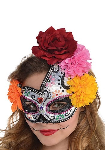 Click Here to buy Sugar Skull Mask for Women from HalloweenCostumes, CDN Funds & Shipping