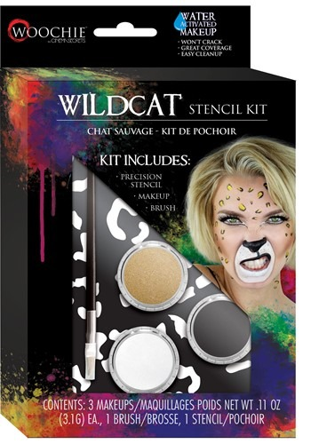 Click Here to buy Wildcat Stencil and Makeup Kit Water Activated from HalloweenCostumes, CDN Funds & Shipping
