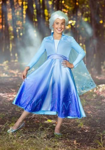 Disney Frozen 2 Elsa Deluxe Costume for Girls