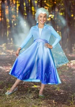 Frozen 2 Girls Elsa Deluxe Costume