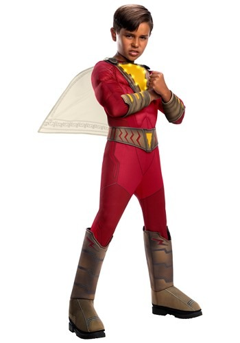Click Here to buy Shazam! Kids Light-Up Deluxe Costume from HalloweenCostumes, CDN Funds & Shipping