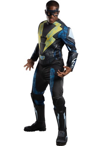 Click Here to buy DC Comics Black Lightning Adult Deluxe Costume from HalloweenCostumes, CDN Funds & Shipping