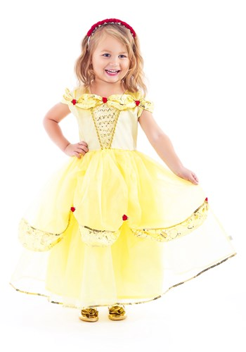 Click Here to buy Girls Yellow Beauty Costume Belle from HalloweenCostumes, CDN Funds & Shipping