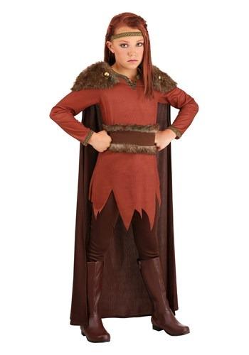 Viking Hero Girls Costume