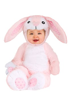 Baby Fluffy Pink Bunny Costume