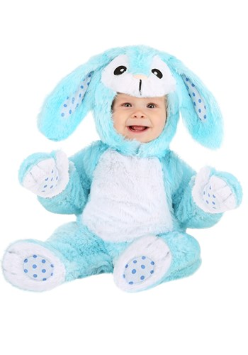 Fluffy Blue Bunny Costume for Babies