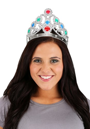 Silver Jeweled Queen's Tiara