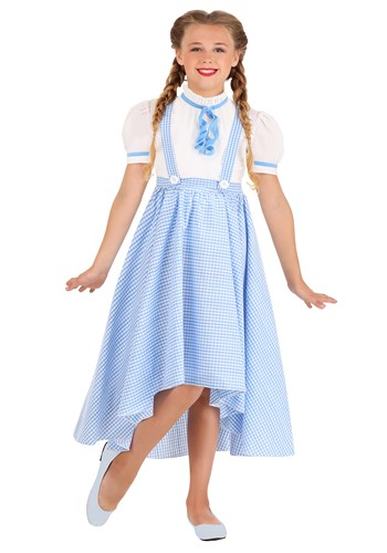 Girls Gingham Hi-Lo Dress Kansas Girl Costume