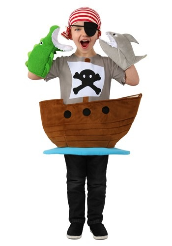 Click Here to buy Candy Catcher Pirate Ship Kids Costume from HalloweenCostumes, CDN Funds & Shipping