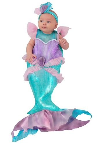 Click Here to buy Mini Mermaid Baby Costume from HalloweenCostumes, CDN Funds & Shipping