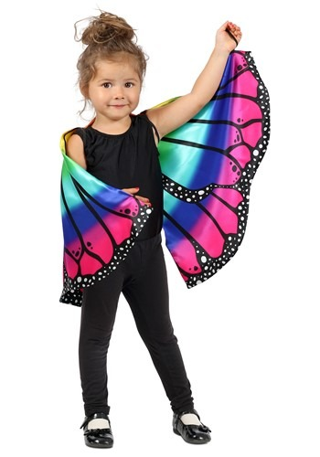Rainbow Butterfly Kids Cape Accessory