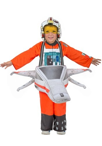 Click Here to buy Kids X-Wing Star Wars Ride-In Costume from HalloweenCostumes, CDN Funds & Shipping