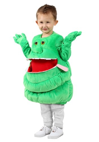 Click Here to buy Kids Ghostbusters Feed Me Slimer Costume from HalloweenCostumes, CDN Funds & Shipping