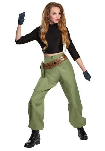 Click Here to buy Kim Possible Animated Series Kim Possible Womens Costume from HalloweenCostumes, CDN Funds & Shipping