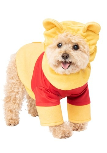 Click Here to buy Winnie the Pooh Pooh Costume for Pets from HalloweenCostumes, CDN Funds & Shipping