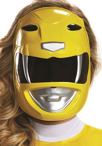 Adult Power Rangers Yellow Ranger Mask