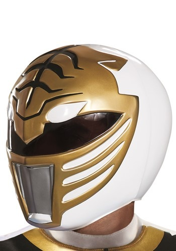 Power Rangers White Ranger Helmet for Adults