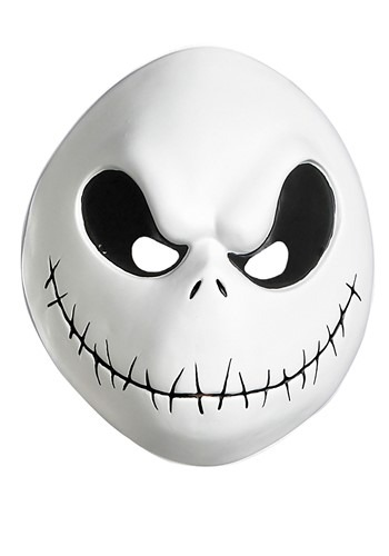 Nightmare Before Christmas Jack Skellington Vacuform Mask Adult