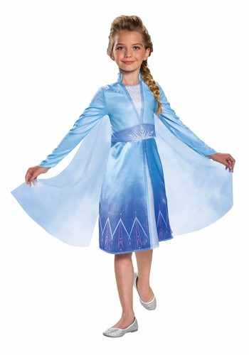 Click Here to buy Frozen 2 Classic Elsa Girls Costume from HalloweenCostumes, CDN Funds & Shipping