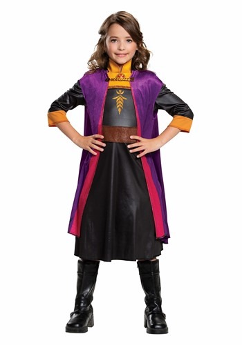 Click Here to buy Classic Girls Frozen 2 Anna Costume from HalloweenCostumes, CDN Funds & Shipping