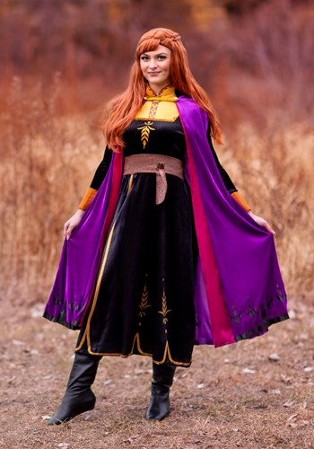 Click Here to buy Deluxe Frozen 2 Anna Womens Costume from HalloweenCostumes, CDN Funds & Shipping