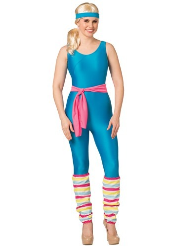Click Here to buy Womens Barbie Exercise Barbie Costume from HalloweenCostumes, CDN Funds & Shipping