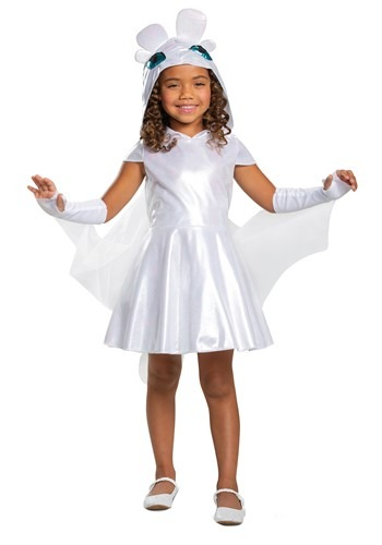 How to Train Your Dragon Light Fury Classic Costume for Girls