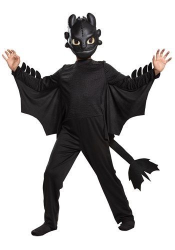 Click Here to buy Kids How to Train Your Dragon Toothless Classic Costume from HalloweenCostumes, CDN Funds & Shipping