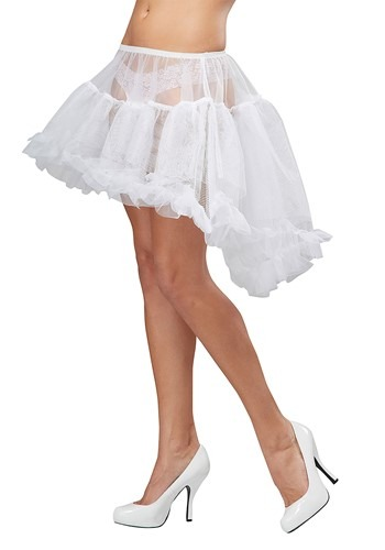 White High Low Petticoat for Women
