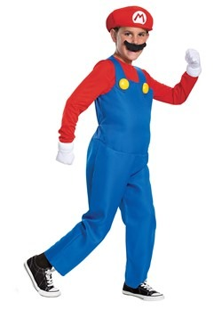 Super Mario Brothers Boys Mario Deluxe Costume