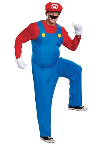 Click Here to buy Nintendo Super Mario Brothers Mens Mario Deluxe Costume from HalloweenCostumes, CDN Funds & Shipping