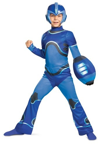 Mega Man Fully Charged Kids Blue Mega Man Classic Costume