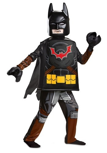 Click Here to buy Lego Movie 2 Batman Deluxe Costume Kids from HalloweenCostumes, CDN Funds & Shipping
